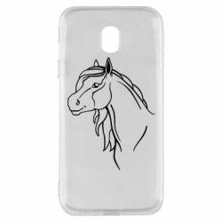 Чехол для Samsung J3 2017 Horse contour