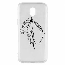 Чехол для Samsung J5 2017 Horse contour