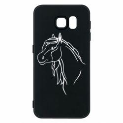 Чехол для Samsung S6 Horse contour