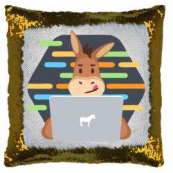 Подушка-хамелеон Horse hacker
