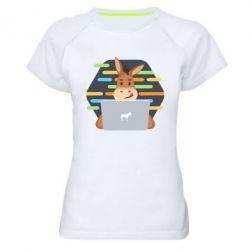Жіноча спортивна футболка Horse hacker