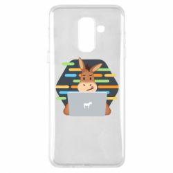 Купить Прикольные рисунки, Чехол для Samsung A6+ 2018 Horse hacker, FatLine