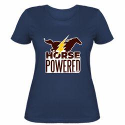 Женская футболка Horse power