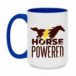 Кружка двухцветная 420ml Horse power