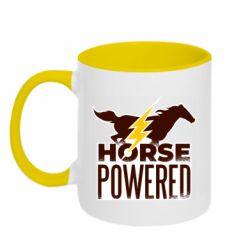Кружка двухцветная 320ml Horse power