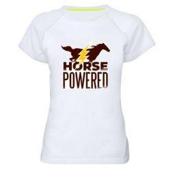 Женская спортивная футболка Horse power