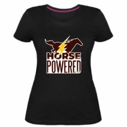 Женская стрейчевая футболка Horse power