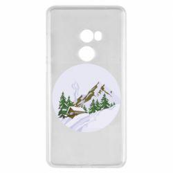 Чехол для Xiaomi Mi Mix 2 House in the snowy mountains