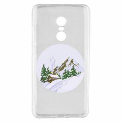 Чехол для Xiaomi Redmi Note 4 House in the snowy mountains