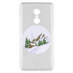 Чехол для Xiaomi Redmi Note 4x House in the snowy mountains