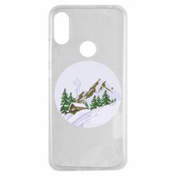 Чехол для Xiaomi Redmi Note 7 House in the snowy mountains