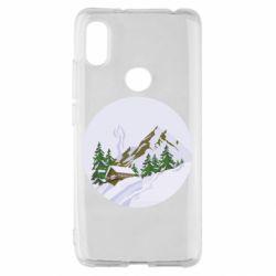 Чехол для Xiaomi Redmi S2 House in the snowy mountains
