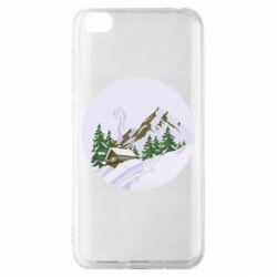 Чехол для Xiaomi Redmi Go House in the snowy mountains