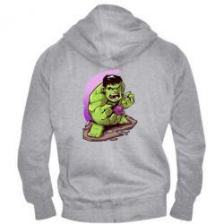 Мужская толстовка на молнии Hulk anime