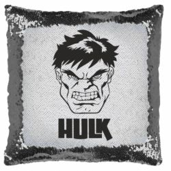 Подушка-хамелеон Hulk face