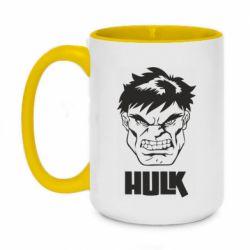 Кружка двоколірна 420ml Hulk face