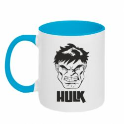 Кружка двоколірна 320ml Hulk face