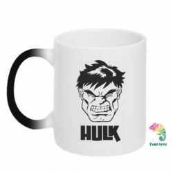 Кружка-хамелеон Hulk face