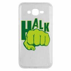 Чехол для Samsung J7 2015 Hulk fist