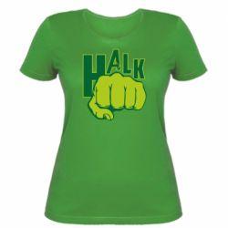 Женская футболка Hulk fist