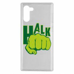 Чехол для Samsung Note 10 Hulk fist