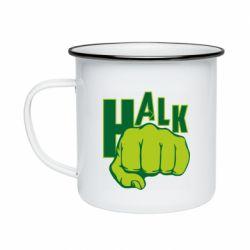Кружка эмалированная Hulk fist