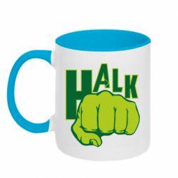 Кружка двухцветная 320ml Hulk fist