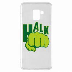 Чехол для Samsung A8+ 2018 Hulk fist