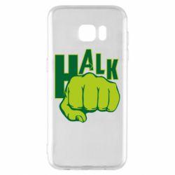 Чехол для Samsung S7 EDGE Hulk fist