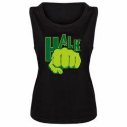 Женская майка Hulk fist