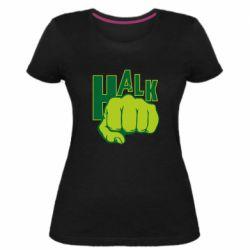 Женская стрейчевая футболка Hulk fist