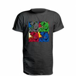 Удлиненная футболка Hulk pop art