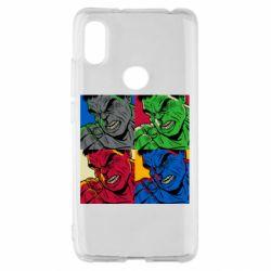Чехол для Xiaomi Redmi S2 Hulk pop art