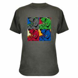 Камуфляжная футболка Hulk pop art