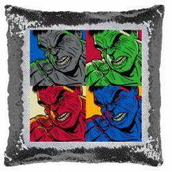 Подушка-хамелеон Hulk pop art