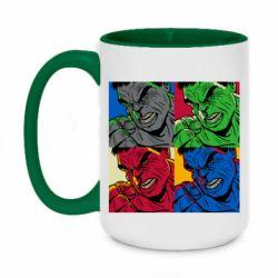 Кружка двухцветная 420ml Hulk pop art