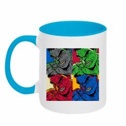 Кружка двухцветная 320ml Hulk pop art