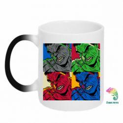Кружка-хамелеон Hulk pop art