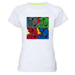 Женская спортивная футболка Hulk pop art