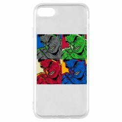 Чехол для iPhone 7 Hulk pop art