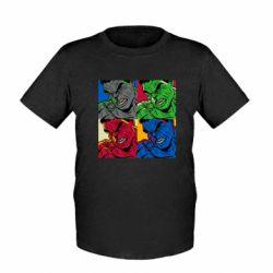 Детская футболка Hulk pop art