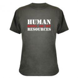 Камуфляжна футболка Human beings are not resources