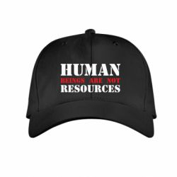 Детская кепка Human beings are not resources