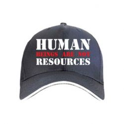 Кепка Human beings are not resources