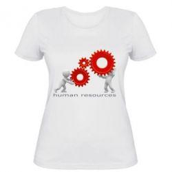 Женская футболка Human resources work