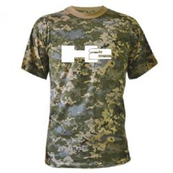 Камуфляжная футболка Hummer H2 - FatLine