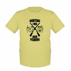 Детская футболка Hunting and fishing