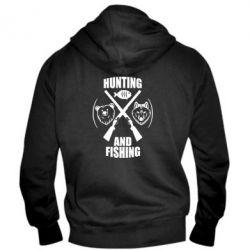 Мужская толстовка на молнии Hunting and fishing
