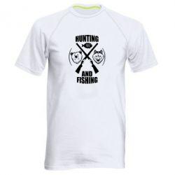 Мужская спортивная футболка Hunting and fishing
