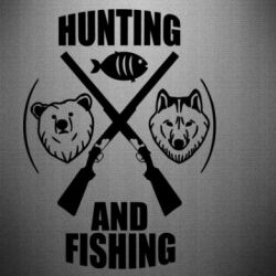 Наклейка Hunting and fishing